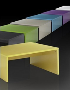 Table basse design carrée PAPAYE, disponible en 7 coloris