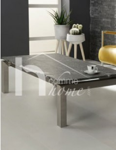 Table basse design en granit et en acier FOX