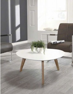 Table basse blanche scandinave FREYA