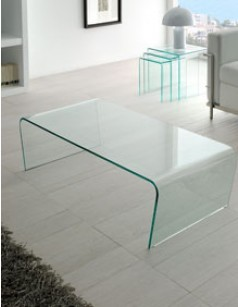 Table basse en verre design yoric - Table basse originale en verre ...