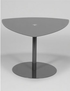 Table d'appoint en verre gris PABO