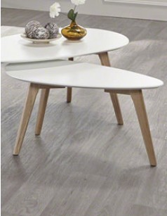 Table d'appoint style scandinave blanc ou gris FREYA