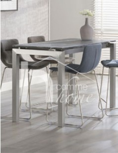 Table de bar design en granit et acier FOX