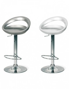 Tabouret de bar design réglable en hauteur LUNA ( lot de 2 )