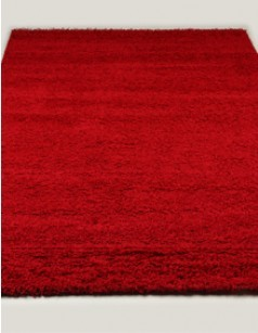 Tapis de salon shaggy TURIN ROUGE