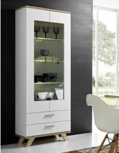choisissez votre vitrine contemporaine au meilleur prix. Black Bedroom Furniture Sets. Home Design Ideas