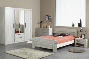Chambre adulte compl te contemporaine au style pur for Chambre adultes complete