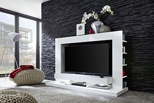 Meuble TV led moderne blanc ADAMA
