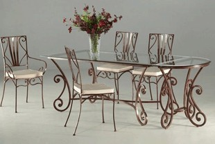 Ensemble table & chaises en fer forgé MARQUISE