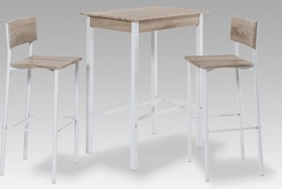 Ensemble table haute et 2 tabourets de bar BARITON