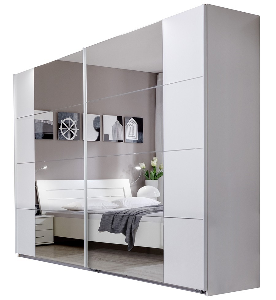 armoire a porte coulissante avec miroir table de lit. Black Bedroom Furniture Sets. Home Design Ideas