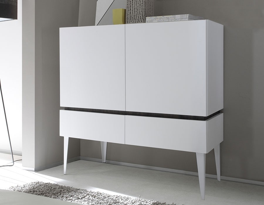 cool meuble tv blanc laque chez conforama salle manger complte moderne de couleur blanc laqu. Black Bedroom Furniture Sets. Home Design Ideas
