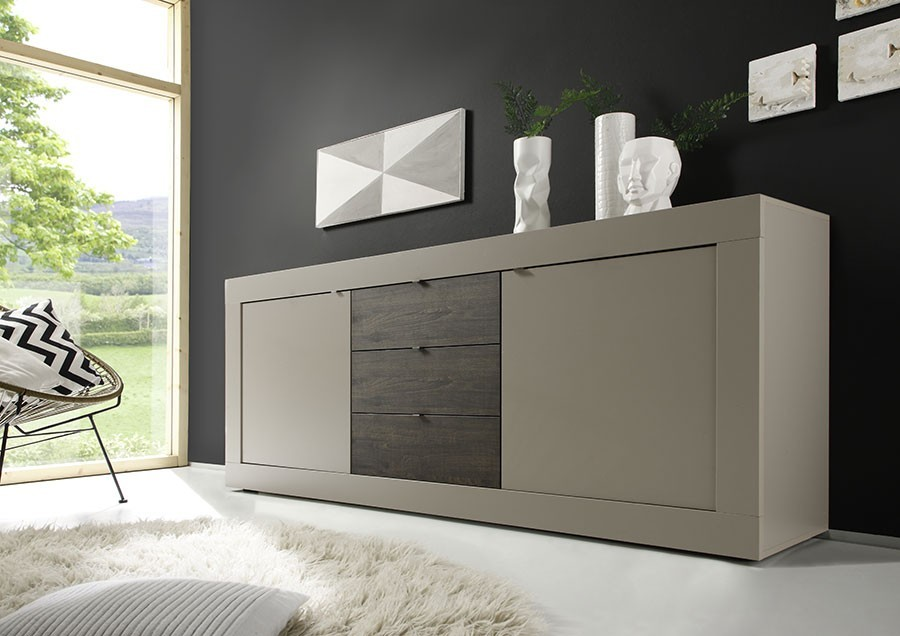 buffet moderne taupe