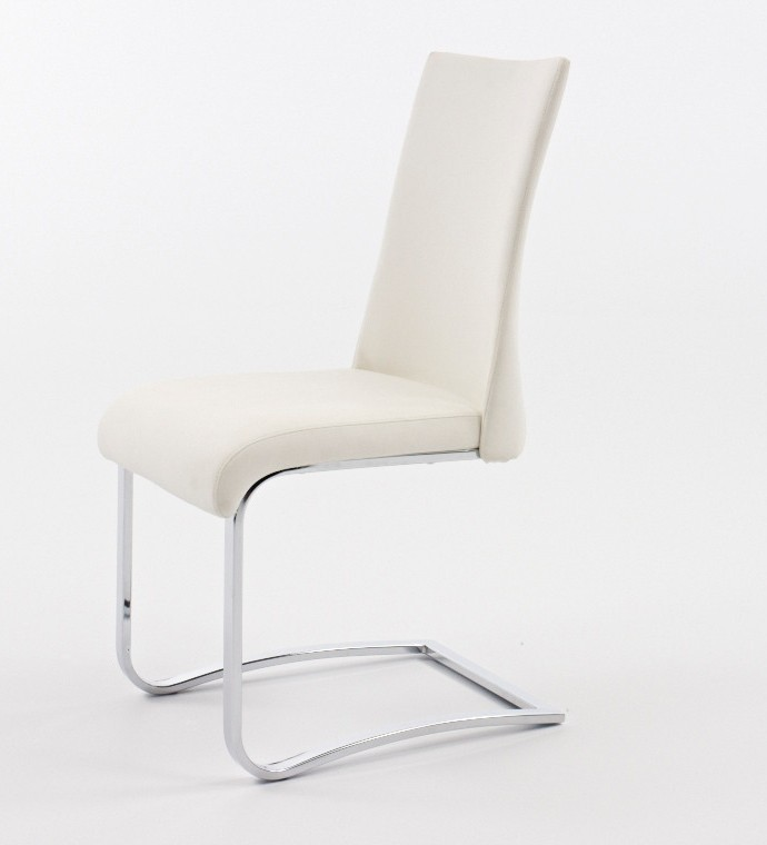 Chaise de salle à manger design en PU HONORINE, disponible en 4 coloris (lot de 2)