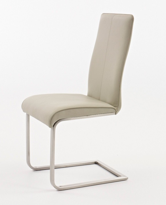 Chaise de salle à manger design en PU ROSINE, disponible en 4 coloris (lot de 2)