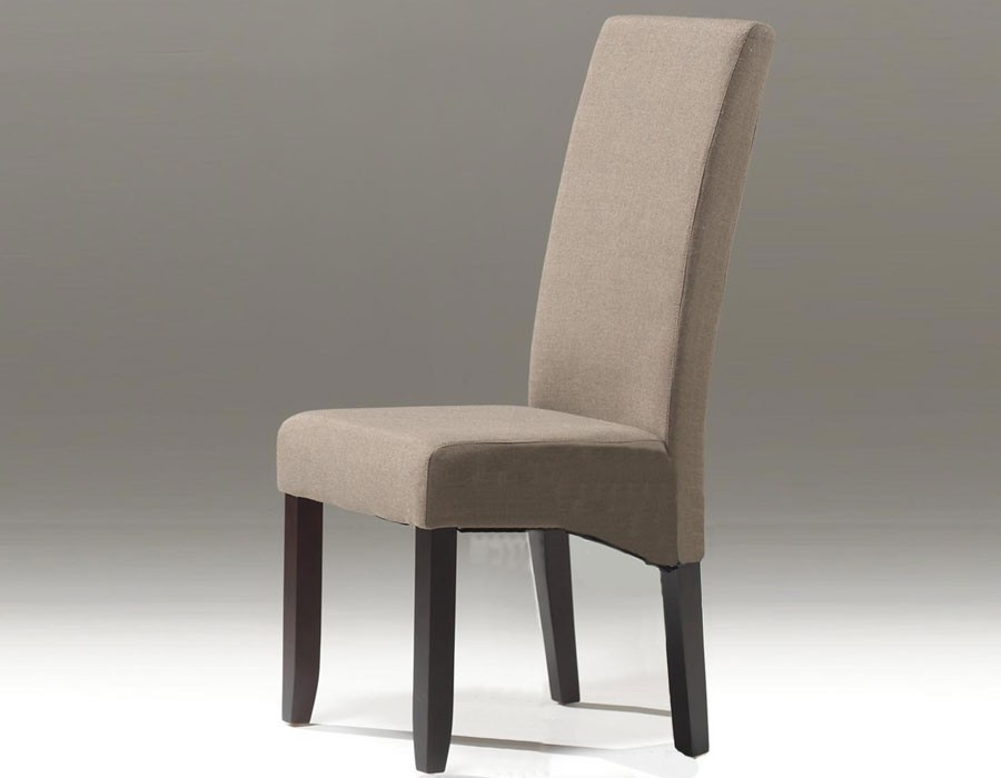 Chaise taupe contemporaine
