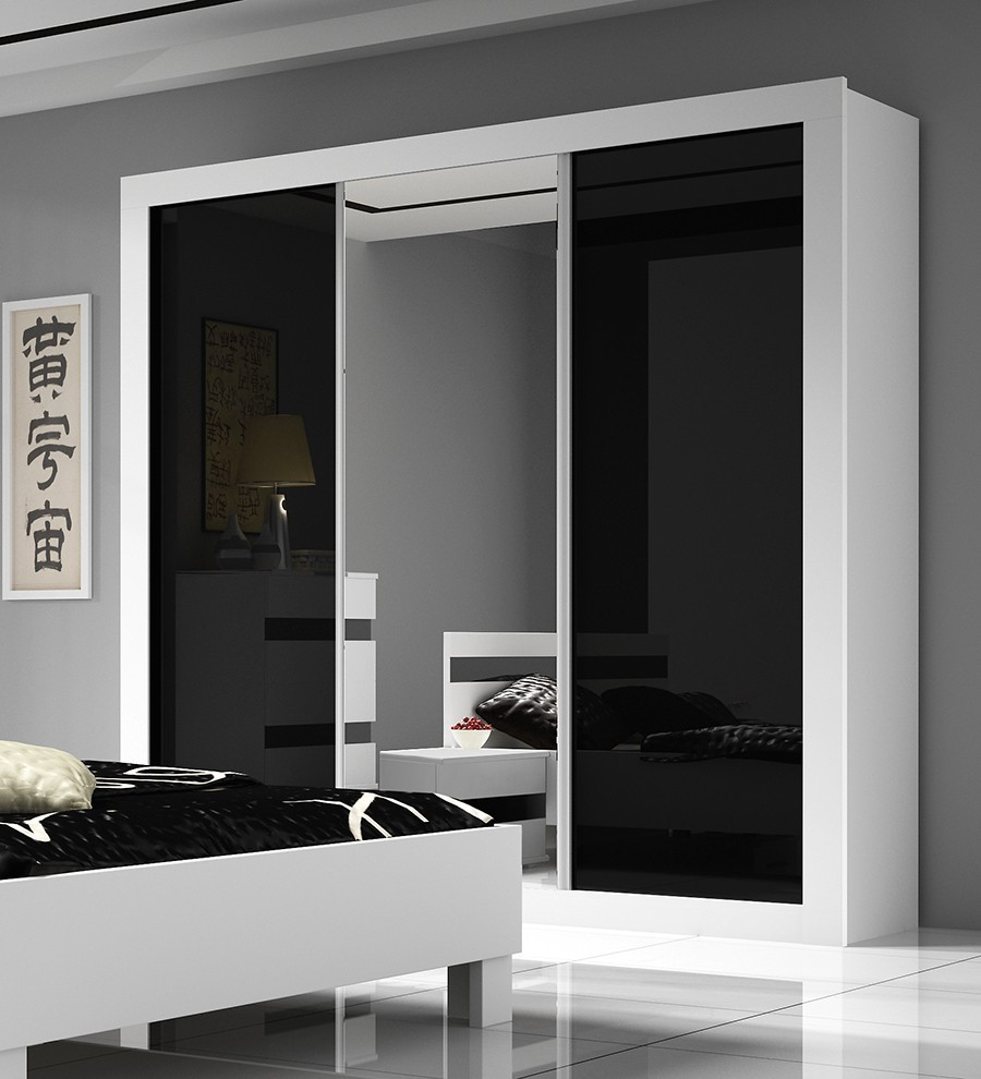 armoire de chambre laquee. Black Bedroom Furniture Sets. Home Design Ideas
