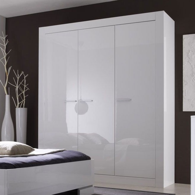 Chambre blanc laque but for Chambre adulte laque blanc