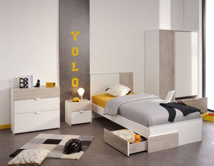chambre moderne blanc et bois pr l vement d 39 chantillons et une bonne id e de. Black Bedroom Furniture Sets. Home Design Ideas
