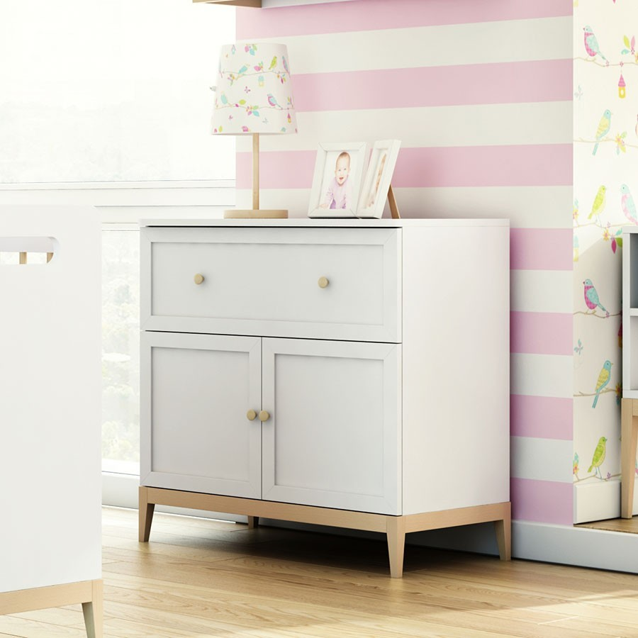 Commode blanche chambre commode design 2 portes chambre for Commode chambre design