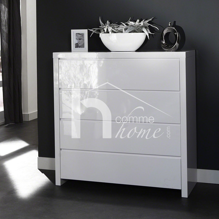 Commode blanche chambre commode blanche chambre with for Commode chambre adulte