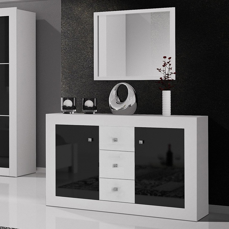 commode noir et blanc maison design. Black Bedroom Furniture Sets. Home Design Ideas
