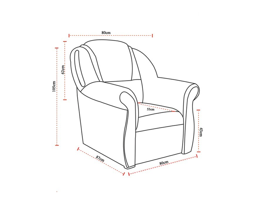 dimensions fauteuil