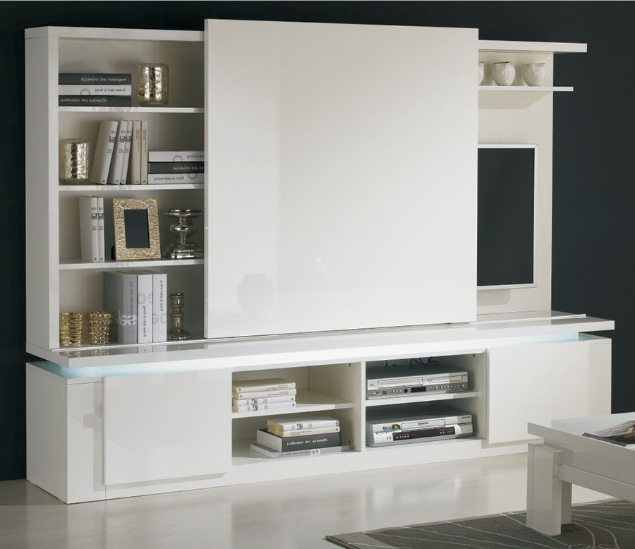 meuble tv avec rangement design. Black Bedroom Furniture Sets. Home Design Ideas