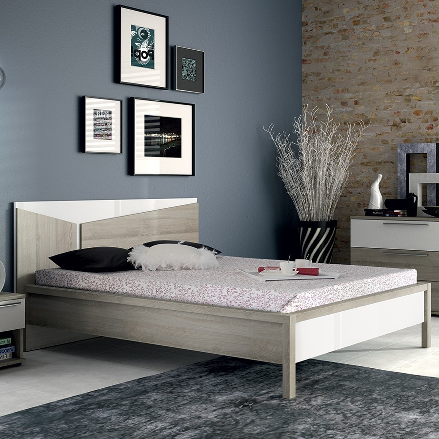 lit adulte contemporain. Black Bedroom Furniture Sets. Home Design Ideas