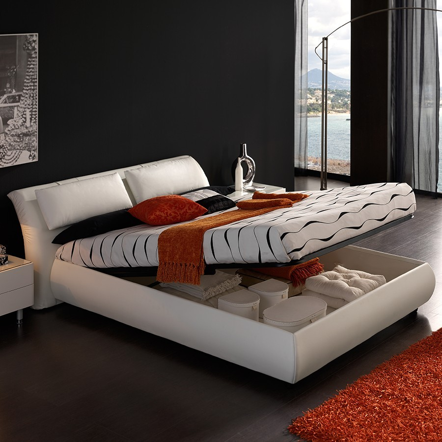 lit adulte avec coffre. Black Bedroom Furniture Sets. Home Design Ideas