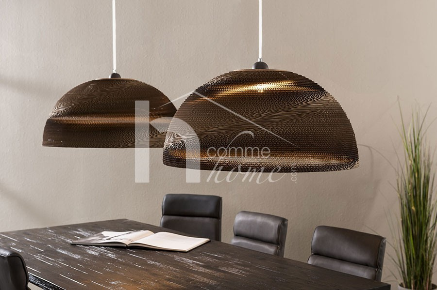Suspension blanche ou marron ultra design KRAFT