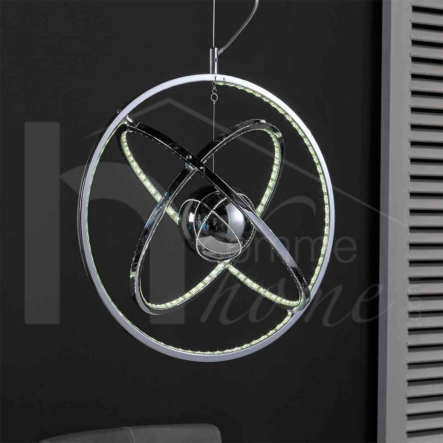 Luminaire suspension design en nickel WORLD
