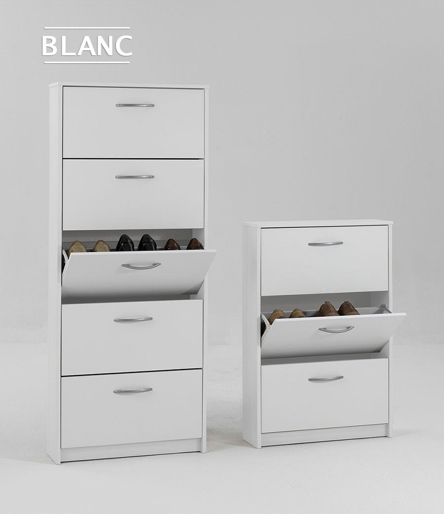meuble chaussures blanc moderne. Black Bedroom Furniture Sets. Home Design Ideas