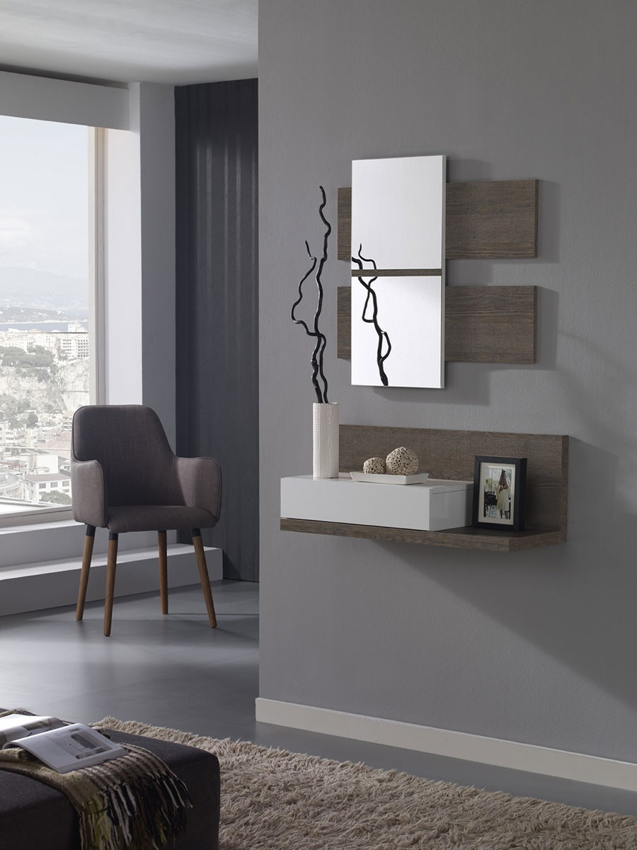 etagere murale pour une entree. Black Bedroom Furniture Sets. Home Design Ideas