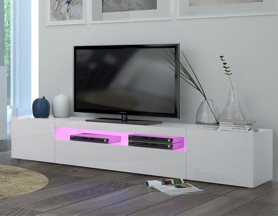 Vite j 39 en profite for Meuble tele design laque blanc