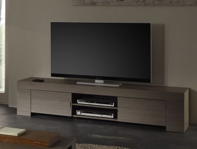Meuble TV-HIFI contemporain TOSCANE, disponible en 2 dimensions