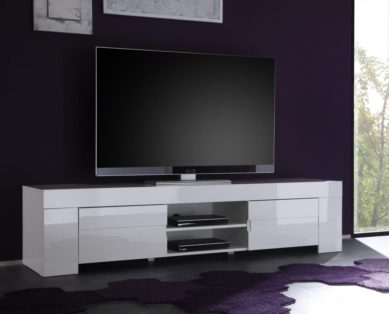 Meuble tv hifi design meuble tv hifi design laqu blanc for Meuble tv xbox one