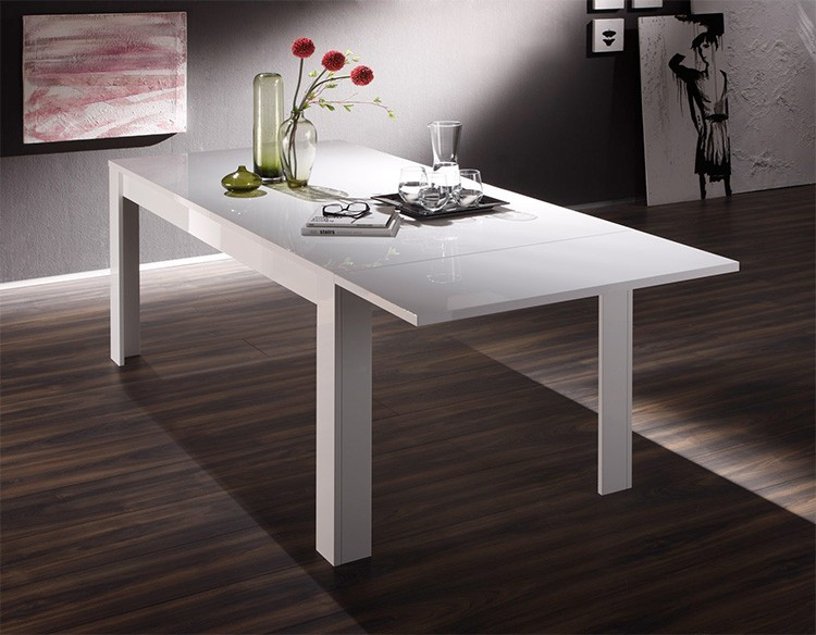 Table de bar reglable blanc laque table de bar acier large choix produits - Table bar blanc laque ...