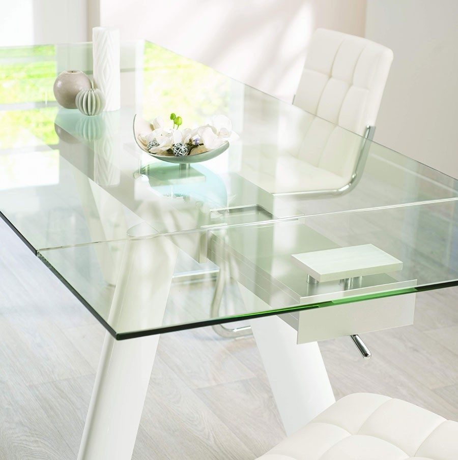 table salle a manger plateau verre maison design. Black Bedroom Furniture Sets. Home Design Ideas