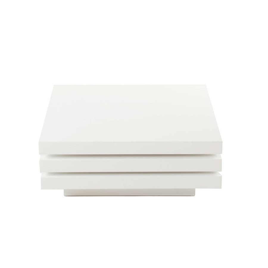 Table basse blanche carr e sammlung von for Table basse carree blanche