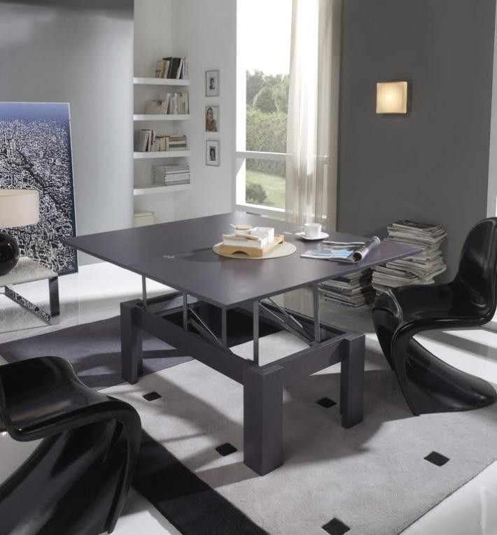 Table basse relevable contemporaine KOMODO, disponible en 11 coloris