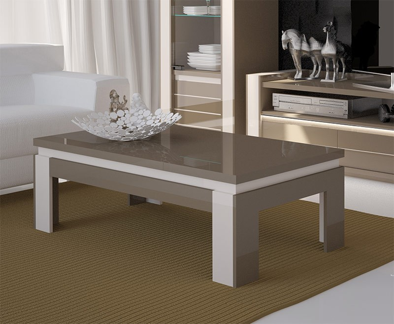 table basse design taupe milla. Black Bedroom Furniture Sets. Home Design Ideas