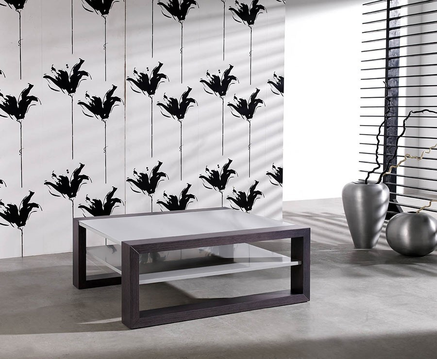 Table basse carrée design CYNTHIA, coloris gris