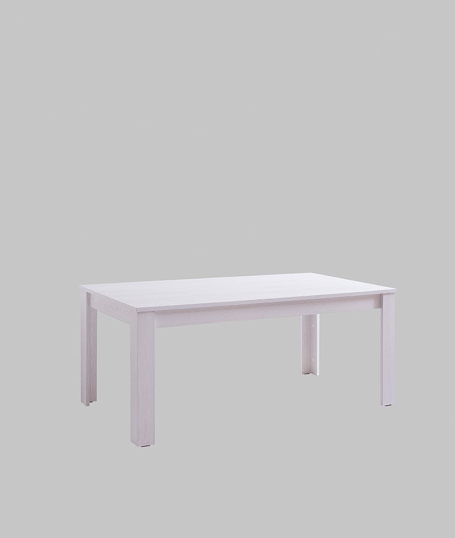 Table de salle à manger rectangulaire couleur pin blanc contemporaine DIVINA