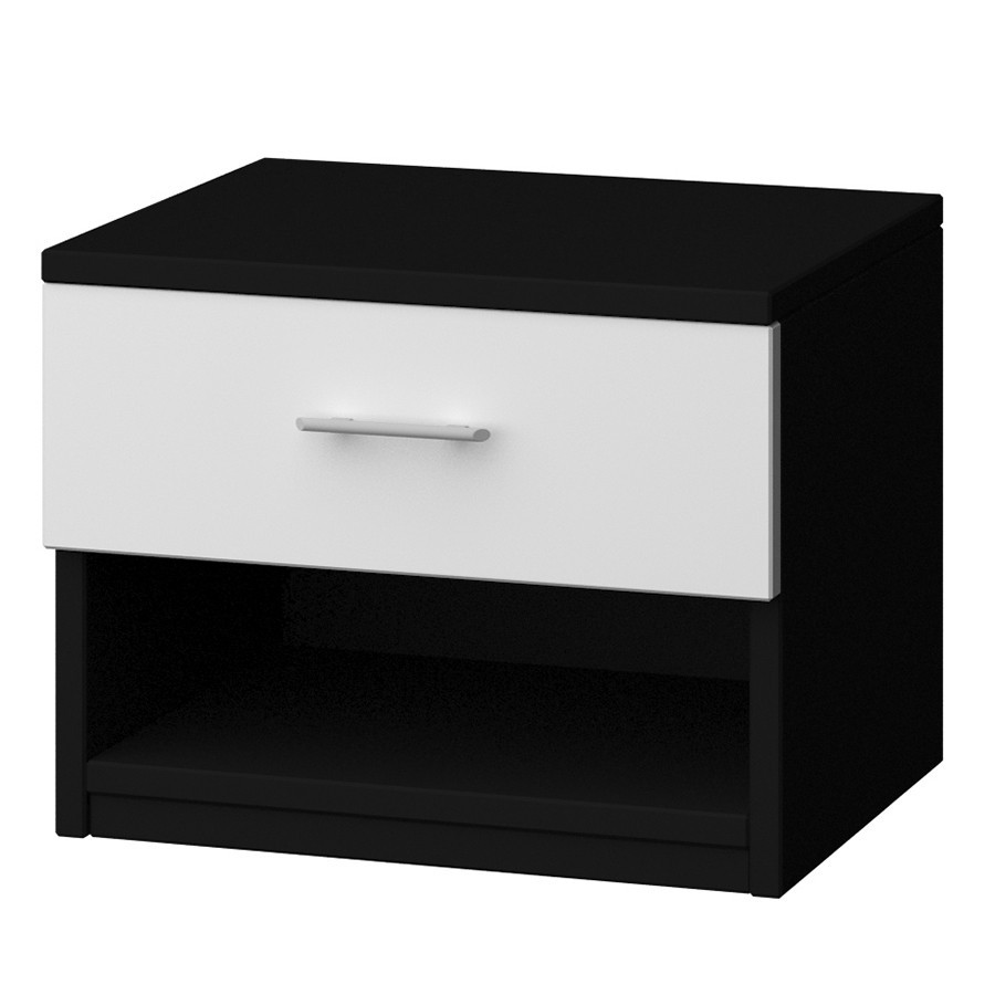 Table de chevet noir et blanc for Table de chevet noire