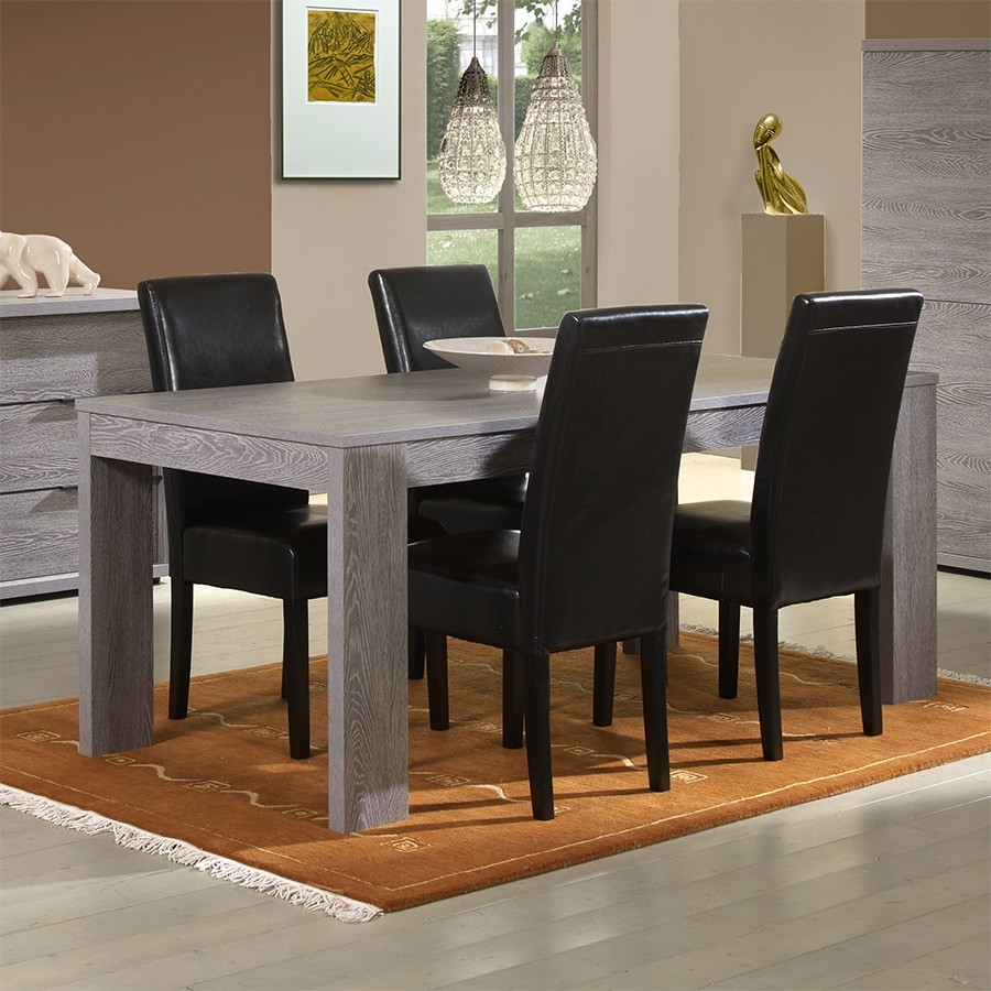 table de salle a manger rectangulaire avec rallonge valdiz. Black Bedroom Furniture Sets. Home Design Ideas