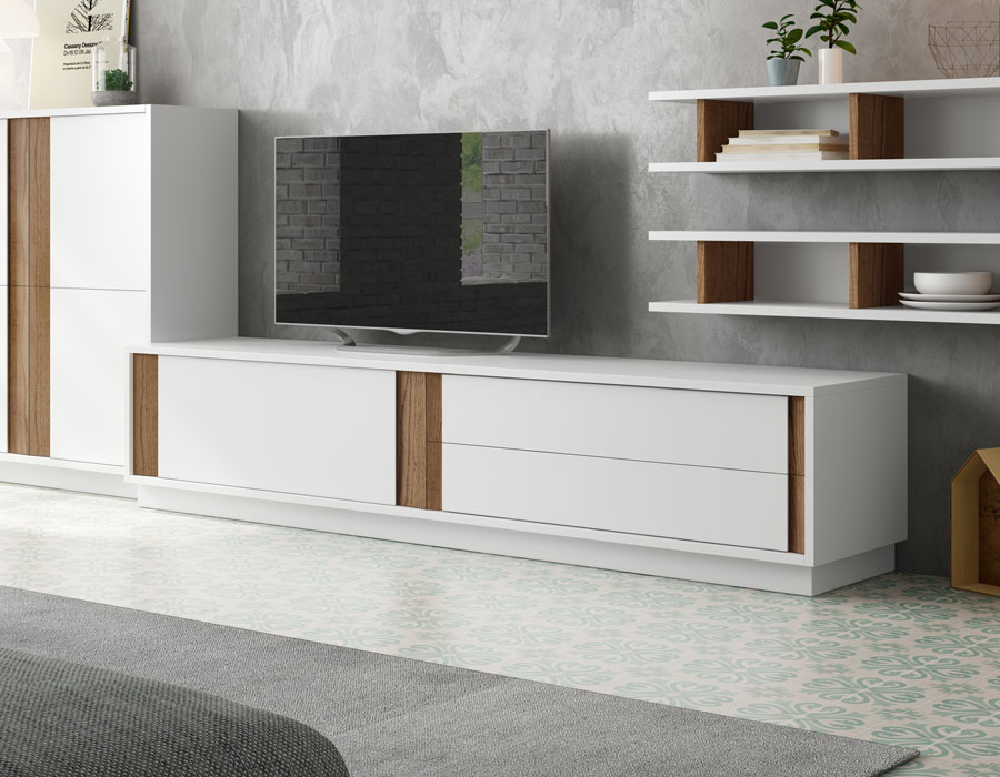 prix des meuble tv blanc 48. Black Bedroom Furniture Sets. Home Design Ideas