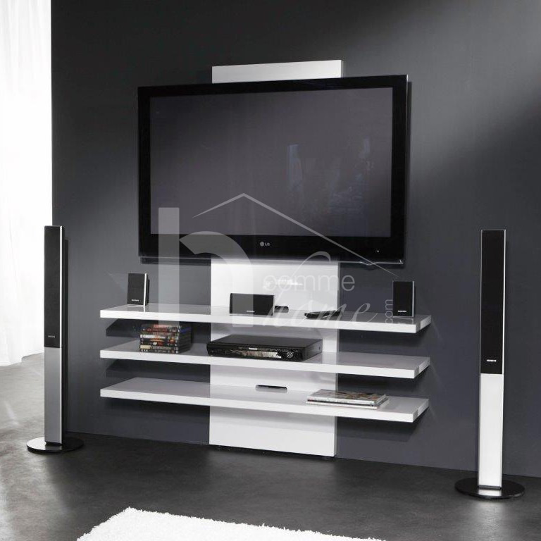 meuble tv blanc laque pas cher conceptions de maison. Black Bedroom Furniture Sets. Home Design Ideas