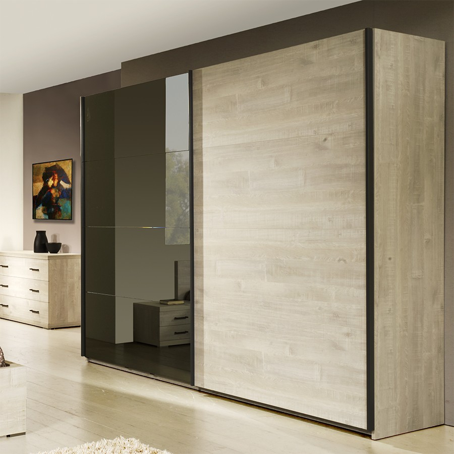 armoire 2 portes coulissantes contemporaine marius zd1 arm. Black Bedroom Furniture Sets. Home Design Ideas