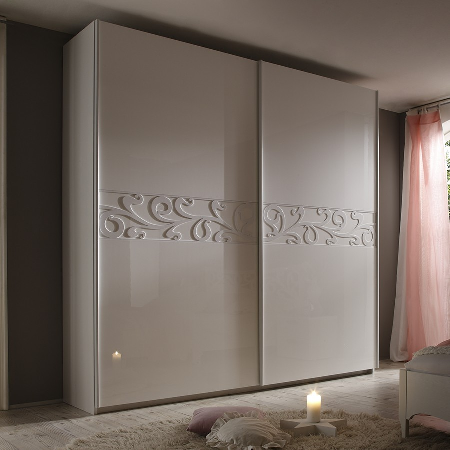 armoire adulte design blanche infinity2 zd1 arm a d. Black Bedroom Furniture Sets. Home Design Ideas